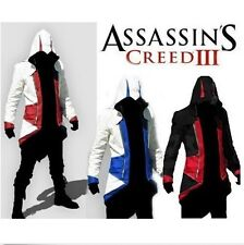 USA Seller Assassins Cosplay Connor Kenway Hoodie Jacket Costume PK57