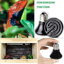 220V Mini Infrared Ceramic Emitter Heat Lamp Light Bulb  for Reptile Pet Brooder