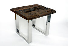 Designer Side Table Coffee Table 2 Sizes Genuine Wood Wood Solid Table Square