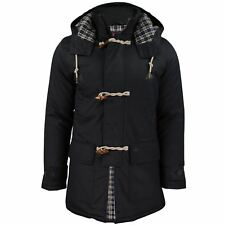 Mens Parka Hooded Jacket Merc 'Havant' Mid Length Parka Coat Cotton Shell