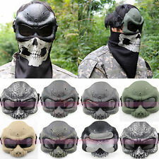 Halloween Party Mask Half Face Airsoft Skull Mask Paintball Motorcycle Skeleton