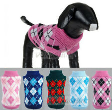 pet Jumper sweater  wholesale warm knitted crochet Dog Cat Puppy gift clothes