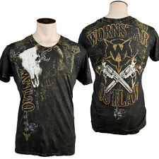Wornstar Men's Country Western Rock Clothing Apparel Outlaw T-Shirt * USA MADE