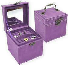 New Gift Deluxe Faux Leather Jewelry Box Case Jewellery European Organizer Box
