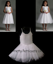 GIRL'S NET PETTICOAT SLIP CHILDREN'S UNDERSKIRT 1-6 Years LIGHT FULLNESS