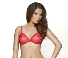 BNWT GOSSARD GLOSSIES SHEER BRA IN SEXY RED  UNDERWIRED PLUNGE SIZES 30B-36A