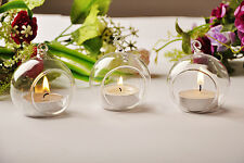 1/5/10/20 pcs Glass Hanging Ball Tealight Candle Holder Centrepiece Wedding NEW