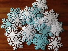 50 GIANT snowflakes FROZEN confetti table decorations card White blue