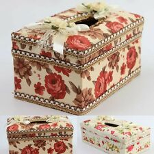 1Pc New Home Supplies Rectangle Floral Napkins Paper Tissue Box 2 Colors