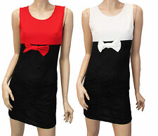 WOMENS UK SIZE 8-14 MICAHEL KORS SMART CASUAL OFFICE VINTAGE BOW BODYCON DRESS