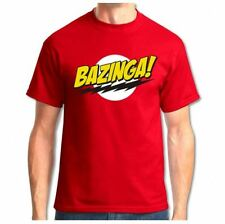 The Big Bang Theory Bazinga Red Sheldon T shirt S-3XL