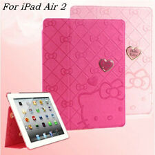 Hello Kitty Lovely Cute Smart Leather Case Cover for Apple iPad Air 2 / 6th Gen.