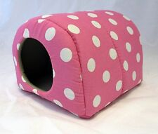 Custom made critter beds for guinea pig rat hedgehog 3 sizes POLKA DOTS
