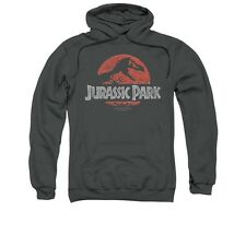 Jurassic Park Faded Logo Adult Pull-Over Hoodie