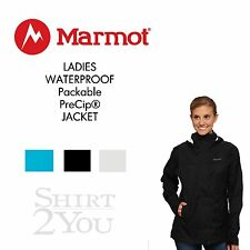 MARMOT LADIES WATERPROOF BREATHABLE Packable PreCip® JACKET XS-XL