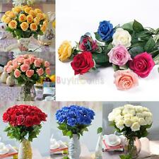 Real Touch Latex Rose Flowers For wedding Bouquet Decoration 8 Colors