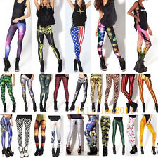 Sexy 3D Graphic Colourful Printed Women Stretchy Leggings Pant Yoga Gym Funky