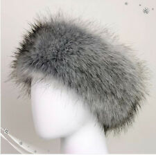 Ladies Faux Fake Fur Hat HeadBand Winter Earwarmer Christmas Fox Hat Ski NEW