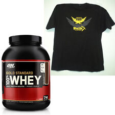 Optimum Nutrition,GOLD STANDARD 100% WHEY Protein, 5 LB, + Free ABB T-Shirt