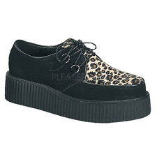 Demonia Creeper-400 Platform Shoes - Gothic,Goth,Punk,Black,Leopard Print,Creepe
