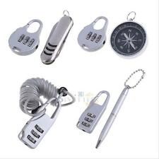 Resettable 3 Digit Password Metal Lock Kit Combination Luggage Suitcase Padlock