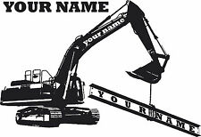 Vinyl wall art decal 360 BACKACTOR EXCAVATOR DIGGER BACKHOE