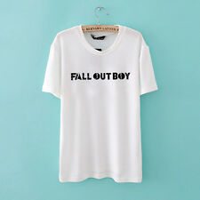 Fall out boy Logo Music Punk Tee T-Shirts Unisex Mens Womens White Shirt Clothes
