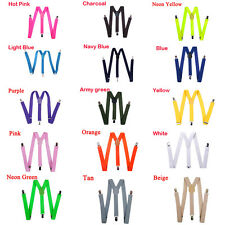 Hot Sale Unisex Mens Womens Clip-on Suspenders Elastic Y-Shape Adjustable Braces