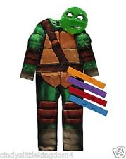 New Teenage Mutant Ninja Turtles boys fancy dress outfit dressing up costume