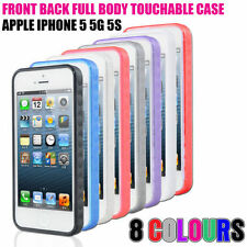 Touchable Front+Back Full Body Case with Gel Bumper & Built in Screen Protector