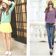 Women Long Sleeve Oversized Batwing Sweater Loose Tops Jumper Pullover Knitwear