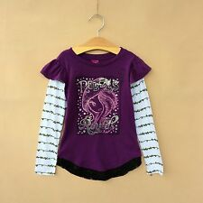 Girls Monster High Tops Shirt T-Shirt Kids 4-12Y Teens Long Sleeve Lace Clothing