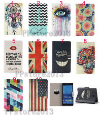 Stylish Flip Fold Wallet Leather Case Printed Smart Cover For Samsung Galaxy Tab