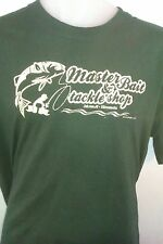 MASTER BAITER & TACKLE SHOP TSHIRT, fishing, fishing tackle, fishing rods, sea