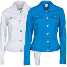 Womens Denim Jacket Size 10- 22 Blue or White RRP£30