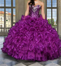 New Women Beading Quinceanera Dress Ball Gown Prom Pageant Formal Evening Gowns