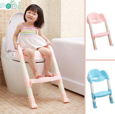 Foldable Kids Children Babies Toddlers Toilet Potty Trainer Seat With Ladder Kit