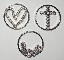 Love Heart Cross Window Plate Yes Fit Origami Owl Large Circle Living Locket