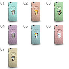 CASE88 Art Collections Hand Drawing Cartoon Kitten Design Phone Case Cover