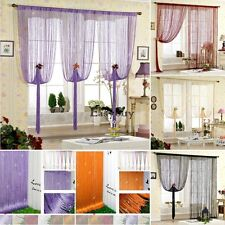 STRING CURTAIN with BEAD SEQUIN SPANGLE FRINGE PANEL ROOM DOOR DIVIDER US
