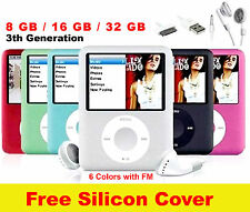 "mp3 mp4 Player 16gb 8gb 32gb 1.8"" LCD Media Video Radio FM 3th Gen... !!!"