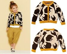 Cool Fashion KidsToddlers Girls Clothes Blazer Cardigan Worsted Tops Coat Sz1-8Y