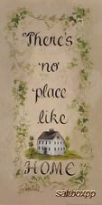 "GE144 There's No Place Like Home Gail Eads 10""x20"" framed or unframed art print"