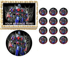 Transformers OPTIMUS PRIME Edible Cake Topper Frosting Sheet - All Sizes