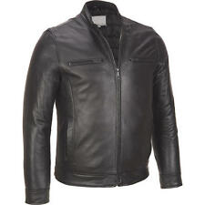 Wilsons Leather Mens Lamb Moto Jacket