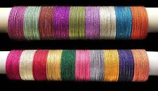 Indian Ethnic Beautiful Design 12 Sparkling Shining Bangles Traditional Jewelry