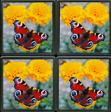 Photo Coaster Set 4 Butterfly Quality Acrylic Drinks Coasters Christmas Gifts