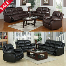 UKRF PU Bonded Leather Sofa Chairs Recliners 1+2+3 Seaters Luxurious