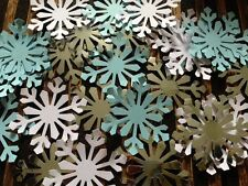 50 GIANT snowflakes confetti table decorations XMAS card White blue silver