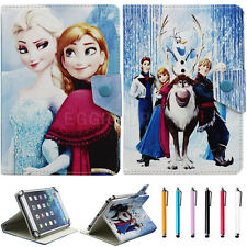 "Universal FROZEN Image For 7"" 7.9"" tablet PC PU Leather Folio Case Cover +Stylus"